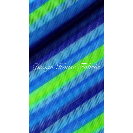 Stripe Mesh Print - Blue/Green