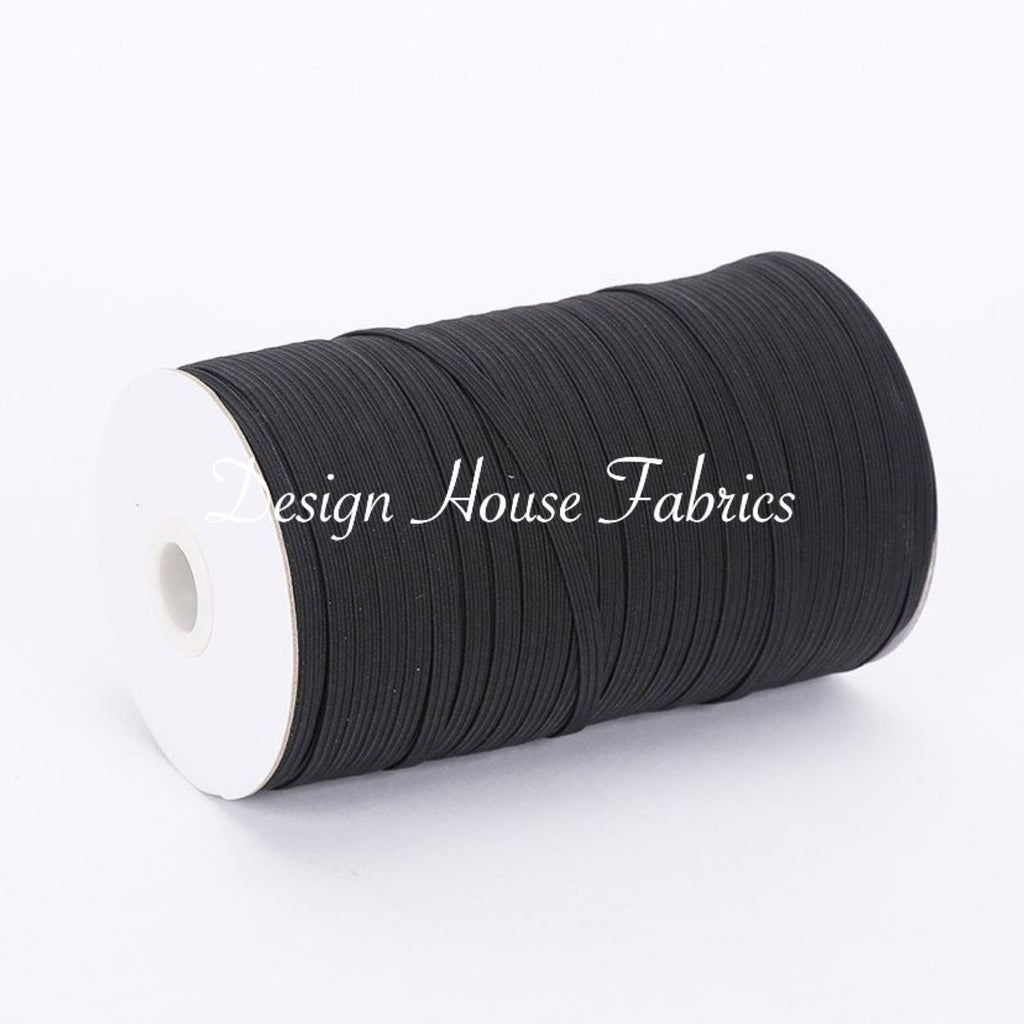3MM (3/32in) Wide Elastic - Black