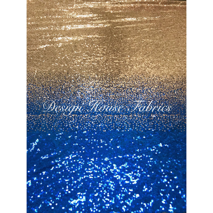 Ombré Sequin- Royal Blue to Gold