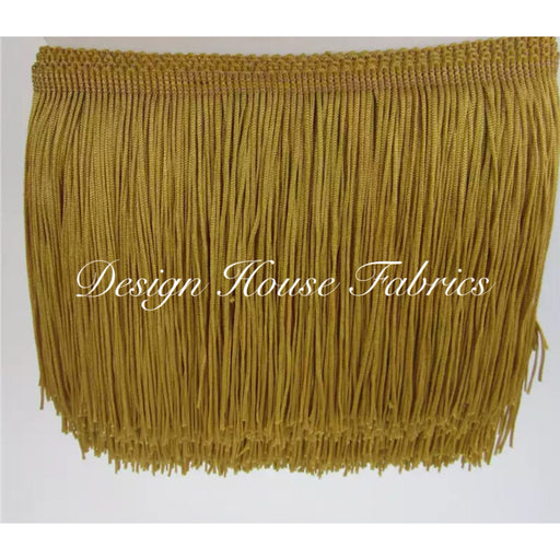Chainette Fringe Lace Trim 4in- Gold