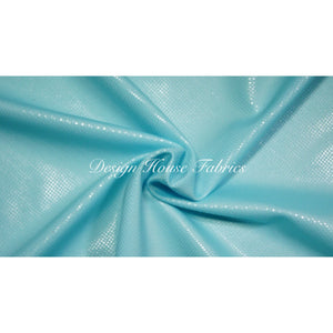 Clear Dot Metallic Spandex- Light Blue