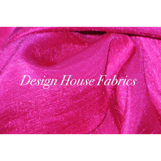 Dupioni Silk Satin - Hot Pink