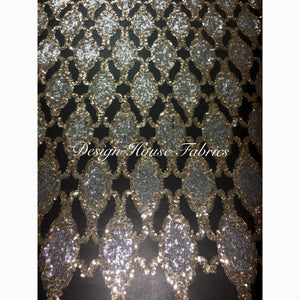 Beaded Embroidered Sequin 2 - Gold