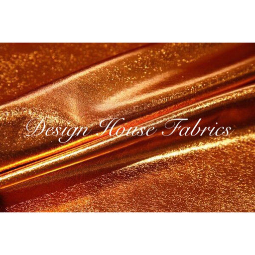 Metallic Spandex- Copper on Black