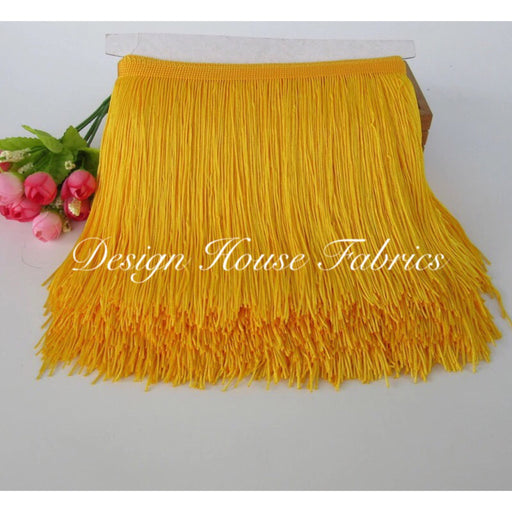 Chainette Fringe Lace Trim 4in- Golden