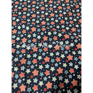 Cotton Star Print - Blue