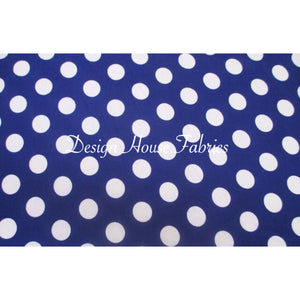 Polka Dot Print - Blue/White Dots