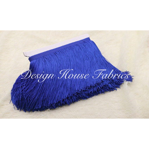 Chainette Fringe Lace Trim 4in- Royal Blue