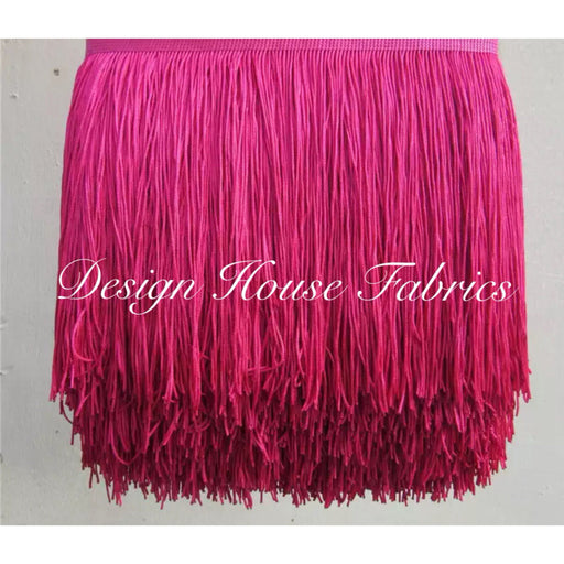 Chainette Fringe Lace Trim 4in- Rose