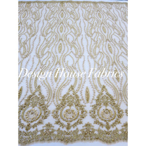 2. Beaded lace 1 - Gold