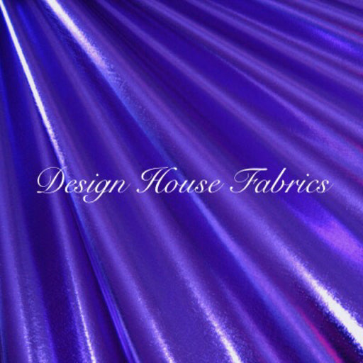 Metallic Spandex- Purple on Black
