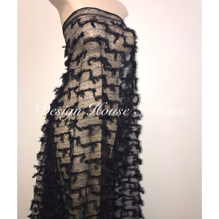 Feather Lace- Black