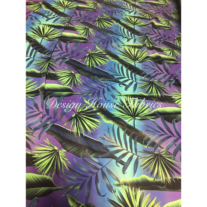 Jungle Print Spandex - Violet/Green