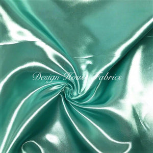 Bridal Satin - Aqua Green