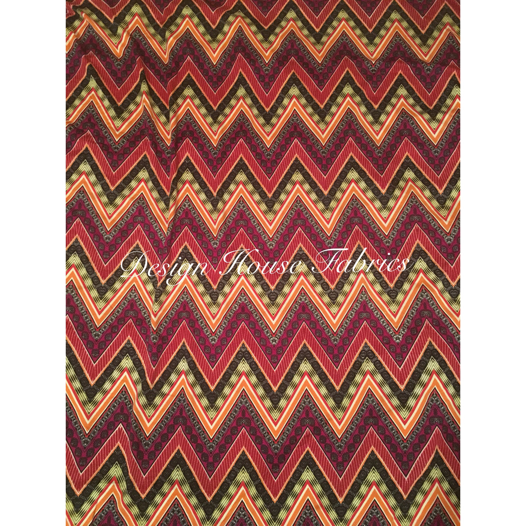 Chevron Jersey Knit Print 11 - Multi