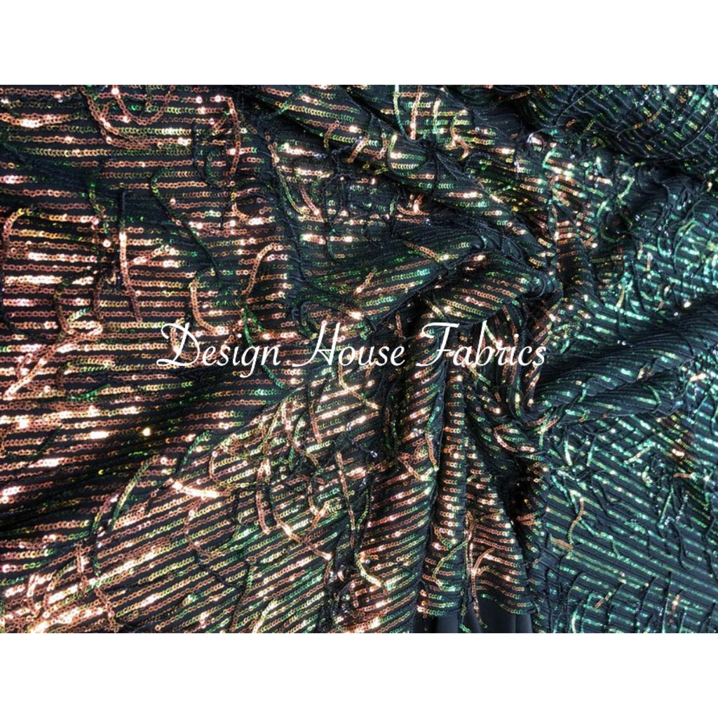9. Sequin Fringe 1 - Iridescent/Green