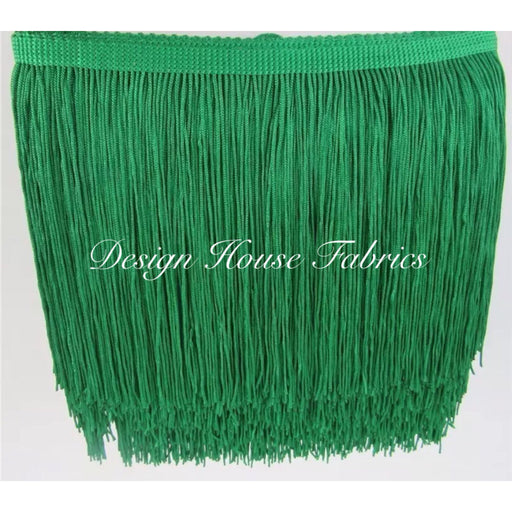 Chainette Fringe Lace Trim 4in- Grass Green