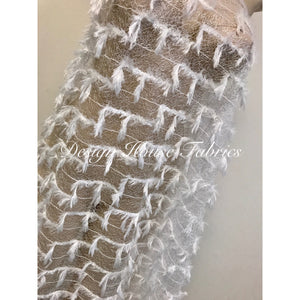 Feather Lace- White