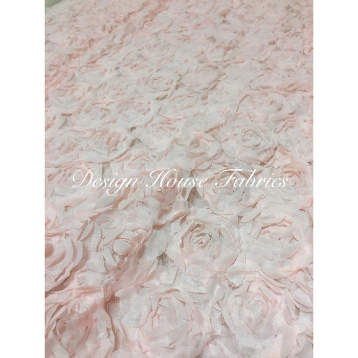 Mini 3D Rosette - light Pink