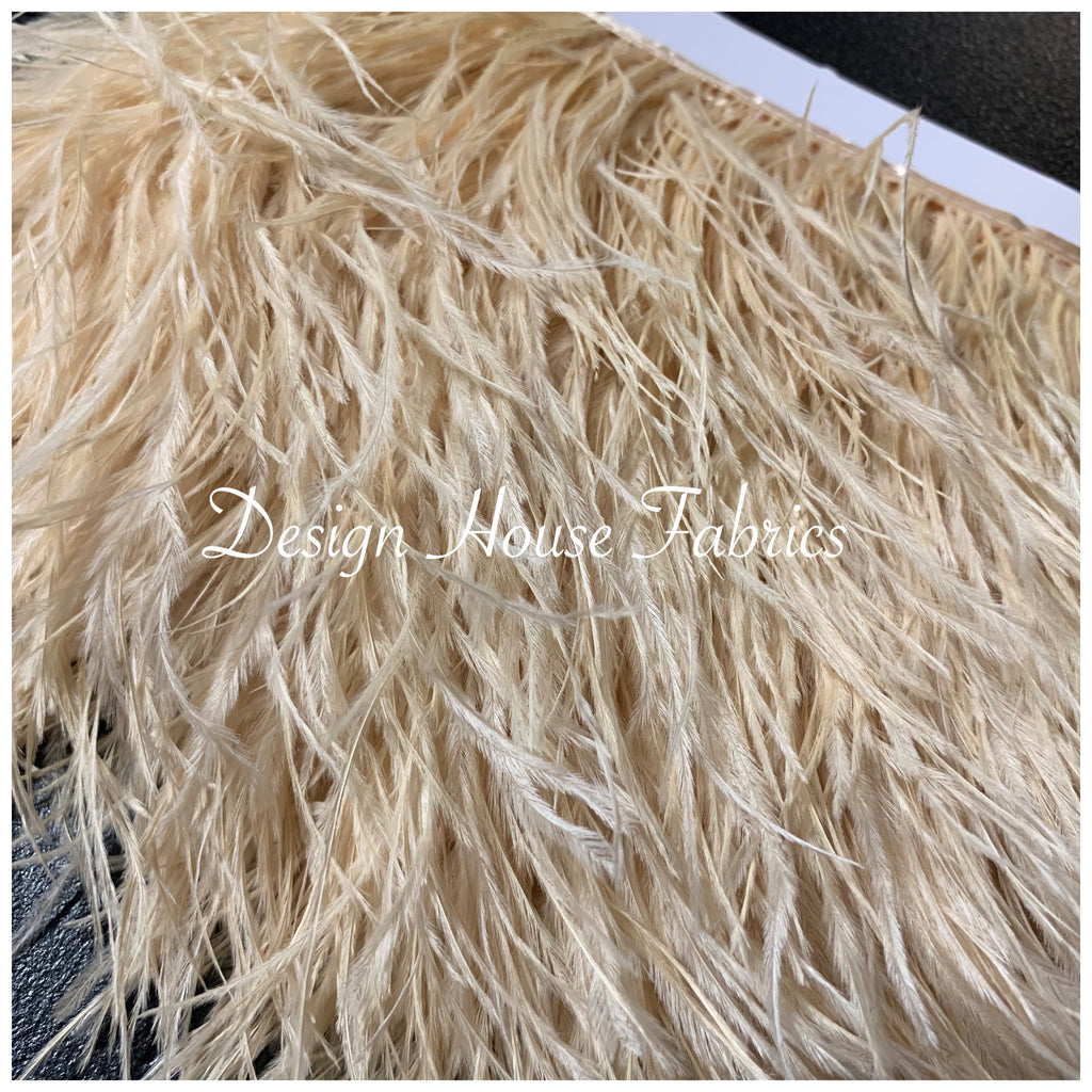 Ostrich feather trim- Ivory