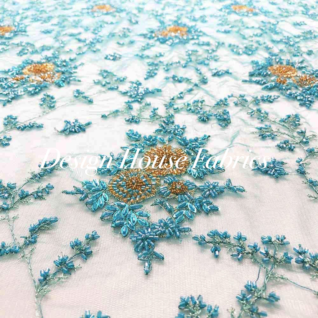 4. Beaded lace 1 - Turquoise