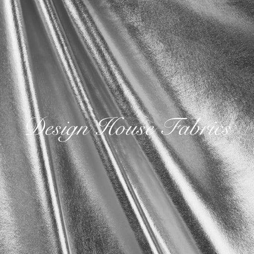 Metallic Spandex- Silver on Black