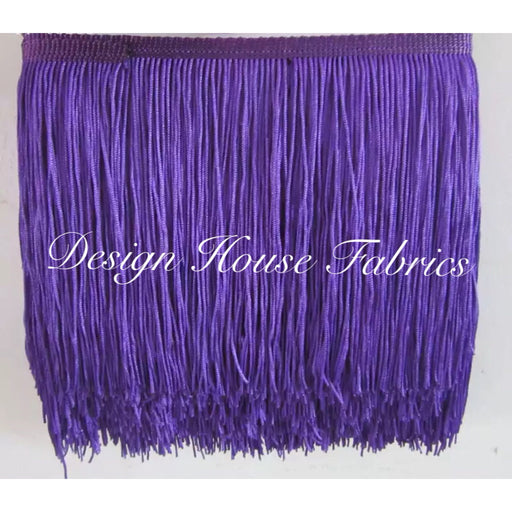 Chainette Fringe Lace Trim 4in- Purple