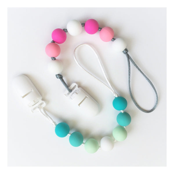 Pacifier Clip - Silicone Teething Clip