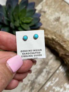Sterling Silver Studs ~ Turquoise