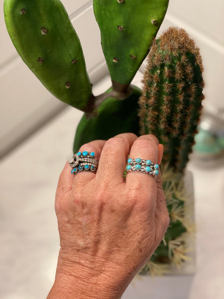 Turquoise Four Stone Stacker Ring