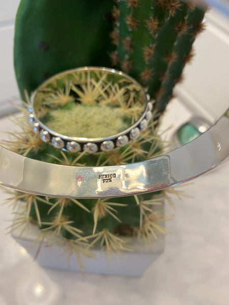 Sterling Silver Bangle ~ 8mm