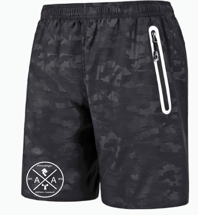 Black Mens Camo Shorts