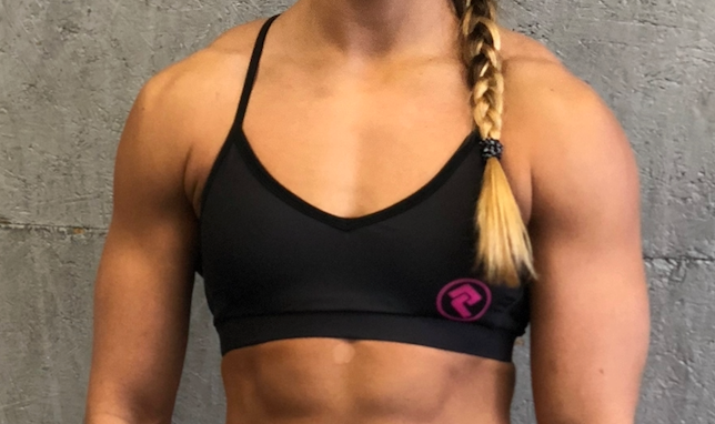 Black Logo Sports Bra