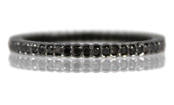 Sethi Couture Black Diamond and Black Rhodium Scallop Eternity Band