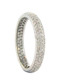 Sethi Couture White Gold and White Diamond 'Tire' Band