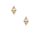 Sethi Couture Trillion Rose Cut Diamond Stud Earrings