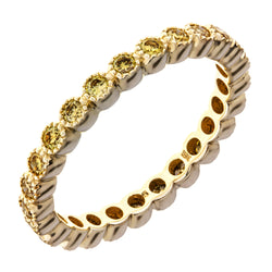 Sethi Couture Yellow Gold and Yellow Diamond Bezel Set Eternity Band