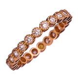 Sethi Couture Rose Gold and Pink Diamond Bezel Set Eternity Band