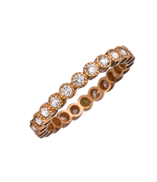 Sethi Couture Rose Gold & Diamond 'Bezel' Band