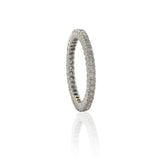 Sethi Couture Prong Set White Diamond and White Gold Eternity Band