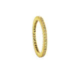Sethi Couture Prong Set Yellow Gold and Yellow Diamond Eternity Band