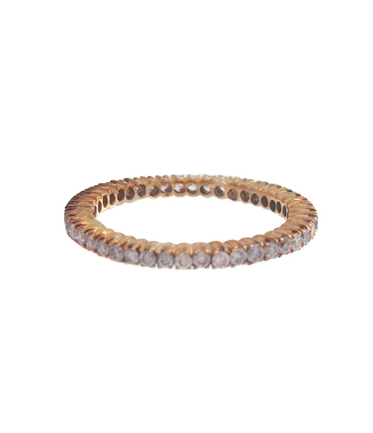 Sethi Couture Rose Gold and Pink Diamond Prong Set Eternity Band