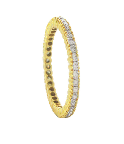 Sethi Couture Yellow Gold and White Diamond Eternity Band