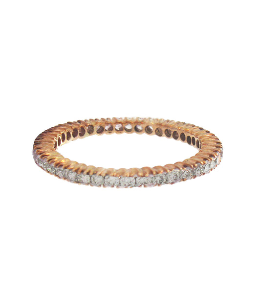 Sethi Couture Rose Gold and White Diamond Eternity Band