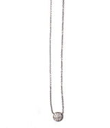 Andi Alyse Small Rhodiumed White Gold Darling Dot Necklace