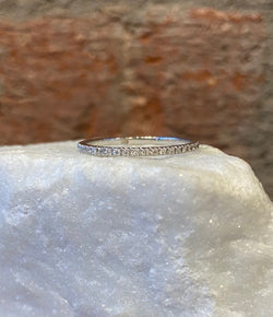 Andi Alyse White Diamond and White Gold Eternity Band