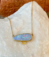 Annie Fensterstock Opal Baguette Necklace