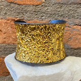 Ara 24kt Gold and Oxidized Sterling Silver Crinkle Cuff