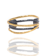Ara 24kt Gold and Oxidized Sterling Silver Cuff