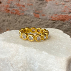 Ara Rose Cut Diamond and 24kt Gold Eternity Band